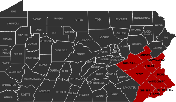 RTR County Coverage Map